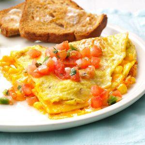 Fresh Corn Omelet