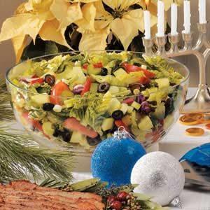 Festive Tossed Salad with Lemon Dressing