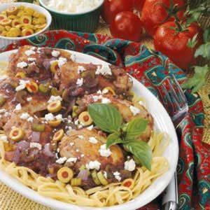 Mediterranean Chicken Fettuccine