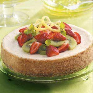 Light Lemon Cheesecake