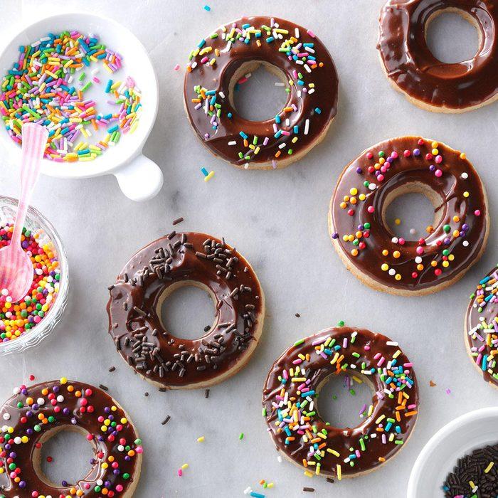 Chocolate-Glazed Doughnut Cookies