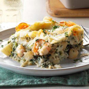White Seafood Lasagna