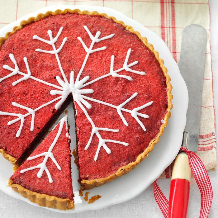 Raspberry Red Bakewell Tart