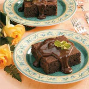 Chocolate Cake With Fudge Sauce