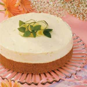 White Chocolate Lime Mousse Cake
