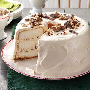 Toffee Angel Food Cake