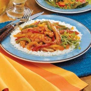 Pork with Three Peppers