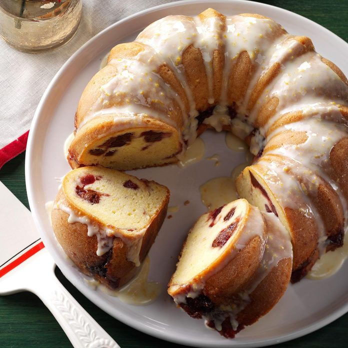 Cranberry-Filled Orange Pound Cake