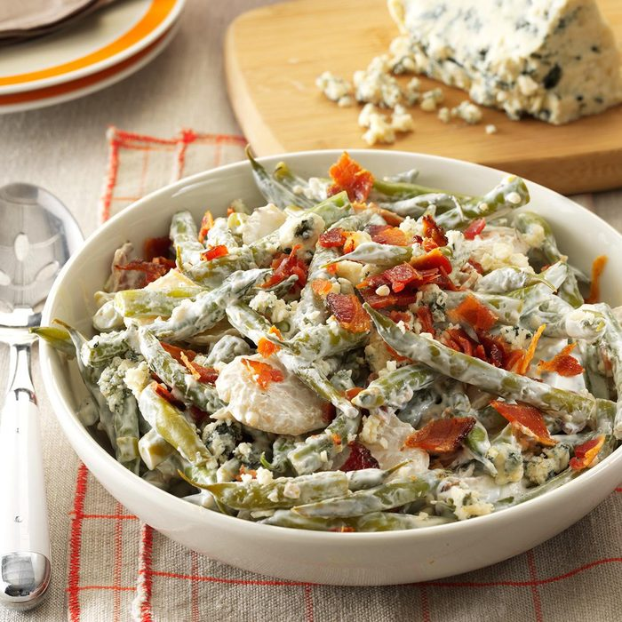 Garlic Green Beans with Gorgonzola