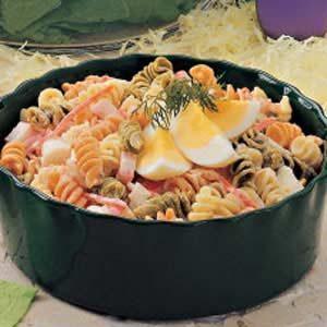 Pasta Crab Egg Salad