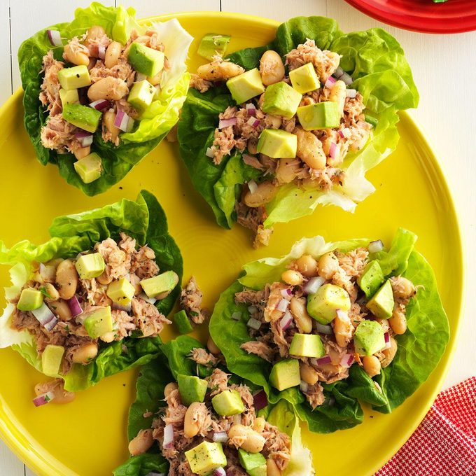 Day 7 Lunch: Tuna and White Bean Lettuce Wraps