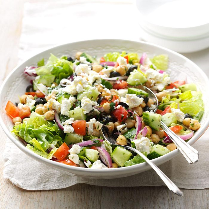 Feta Garbanzo Bean Salad