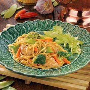 Stir-Fried Chicken and Noodles