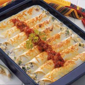 Makeover Creamy Halibut Enchiladas