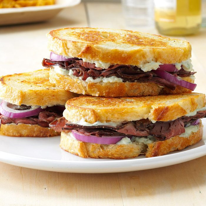 Grilled Beef & Blue Cheese Sandwiches