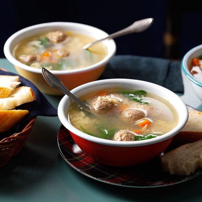 Meatball & Pasta Soup