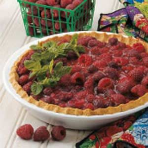 Raspberry Pie with Oat Crust