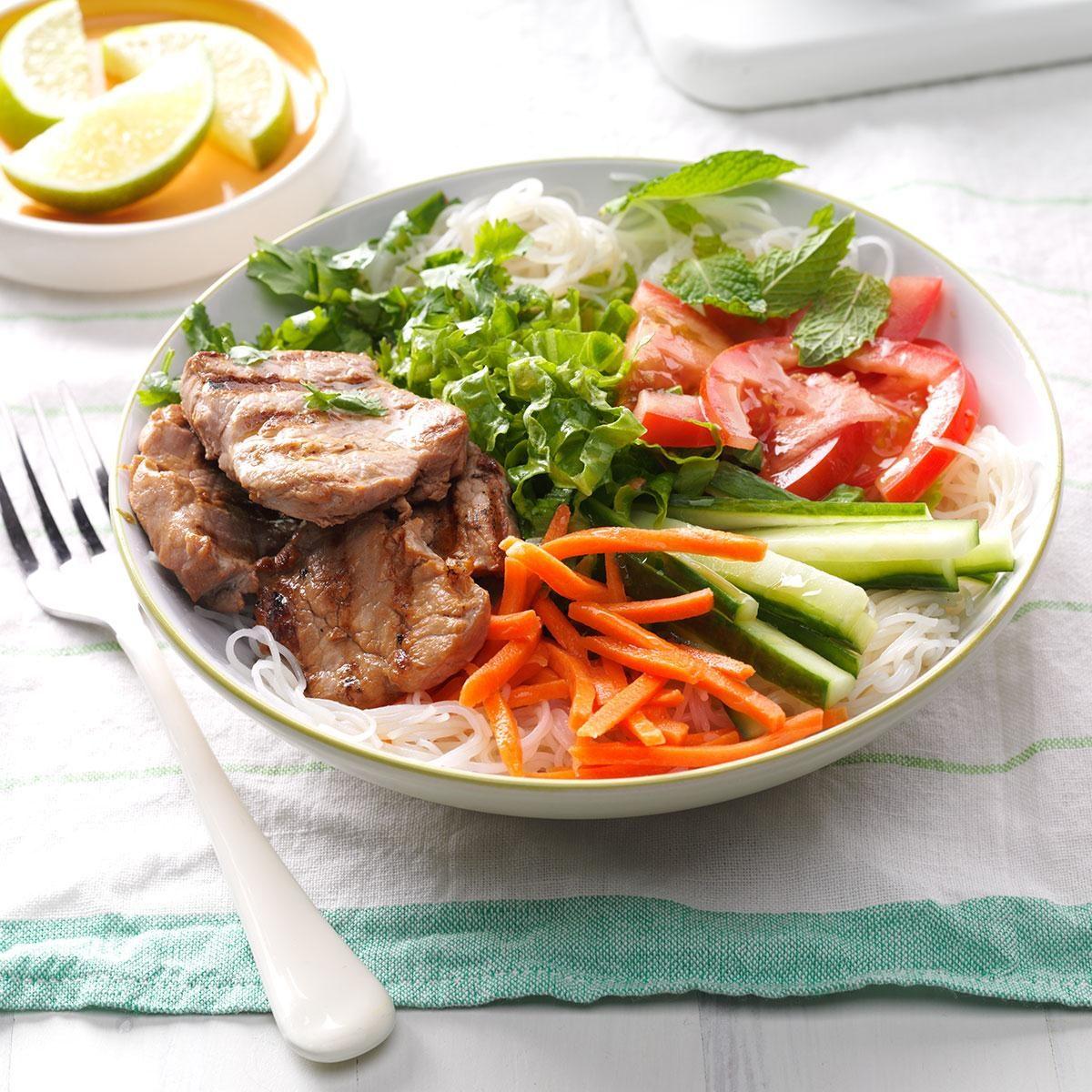 Grilled Pork Noodle Salad