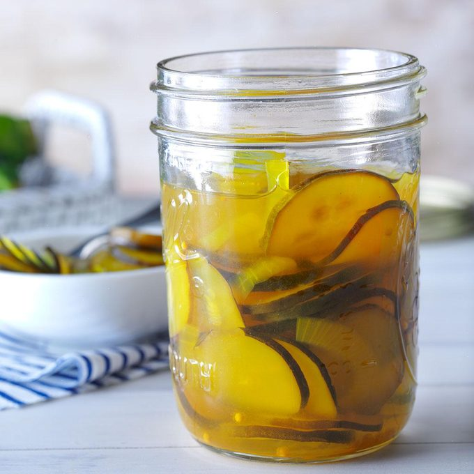 Sweet and Sour Zucchini Pickles