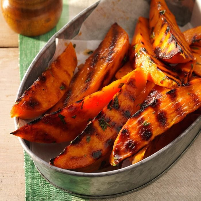 Grilled Lime-Balsamic Sweet Potatoes