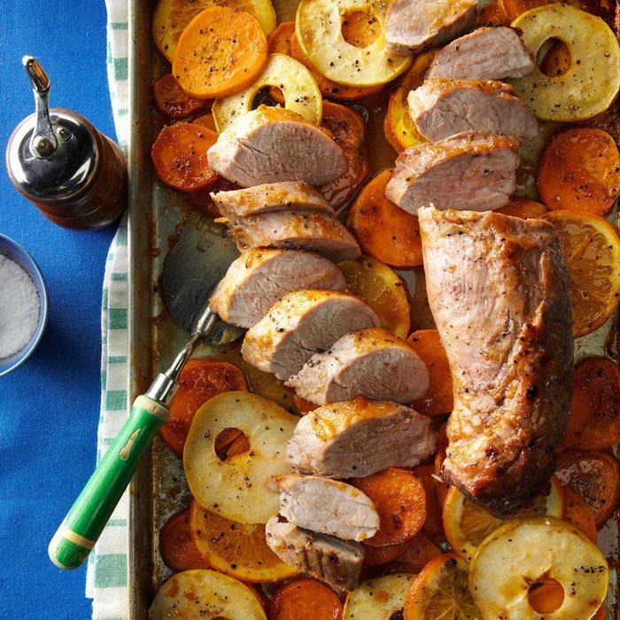 Orange-Glazed Pork with Sweet Potatoes