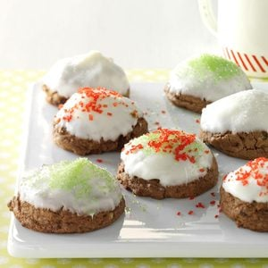 Snow-Capped Mocha Fudge Drops