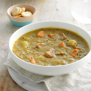 Slow-Cooked Split Pea Soup