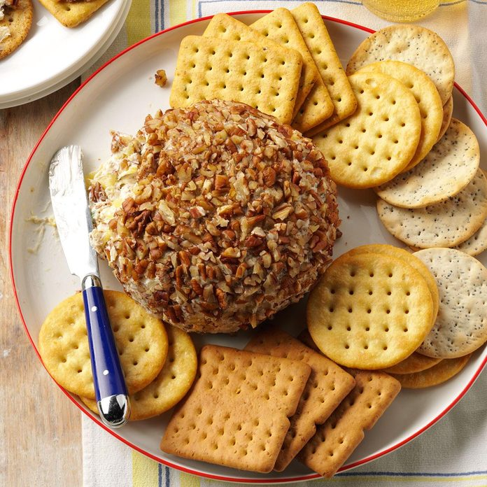 Sweet & Savory Pineapple Cheese Ball