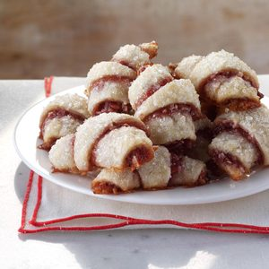 Raspberry-Almond Crescent Cookies