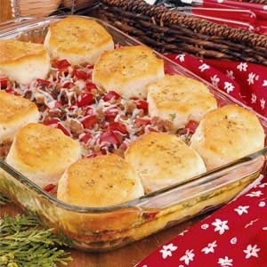 Italian Sausage Biscuit Bake