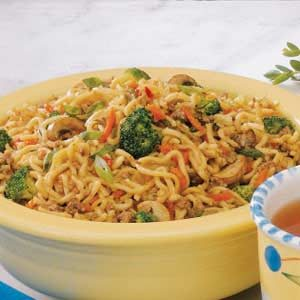 Asian Beef Noodle Toss