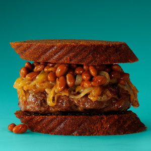 Baked Beans & Onion Burgers