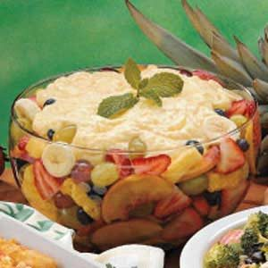 Pudding-Topped Fruit Salad