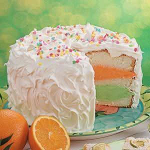 Citrus Sherbet Torte