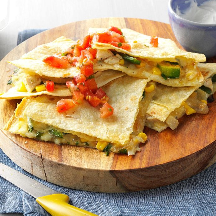 Inspired by: Grilled Quesadilla with Grilled Adobo Chicken