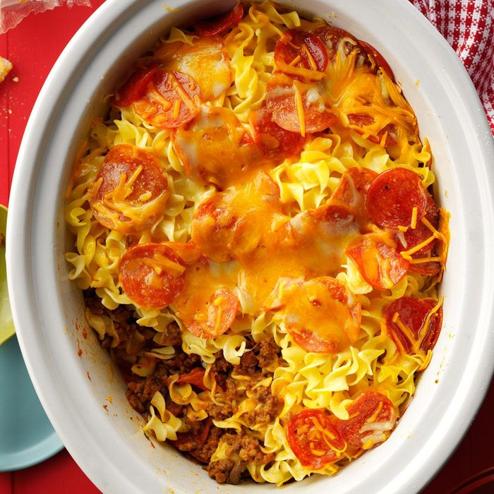 Slow-Cooked Pizza Casserole