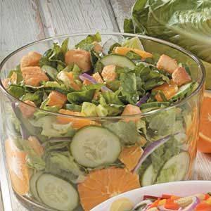 Orange Cucumber Tossed Salad