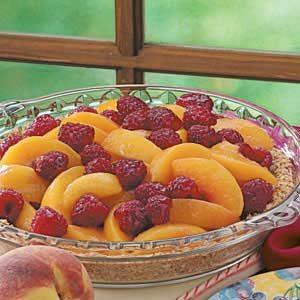 Cool Raspberry Peach Pie