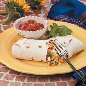 Sweet Pepper Burritos