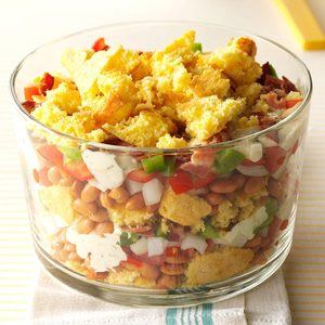 Layered Cornbread Salad