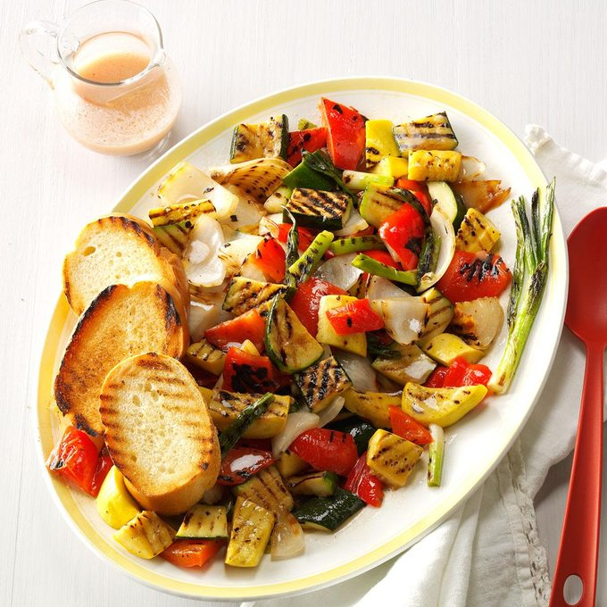 Grilled Veggies with Mustard Vinaigrette
