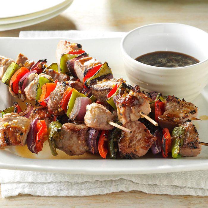 Plum-Glazed Pork Kabobs