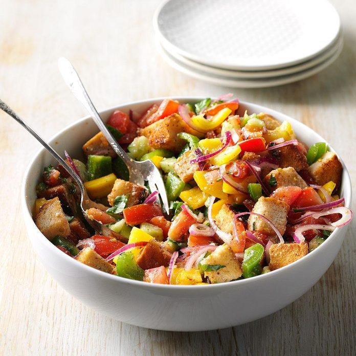 Garden Bounty Panzanella Salad