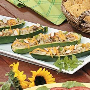 Asian Stuffed Zucchini