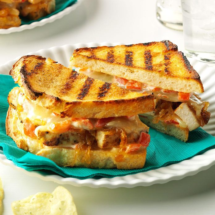 Chicken & Caramelized Onion Grilled Cheese