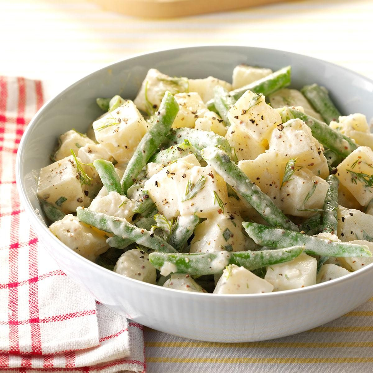 New Jersey: Potato-Bean Salad with Herb Dressing