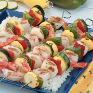 Herbed Seafood Skewers