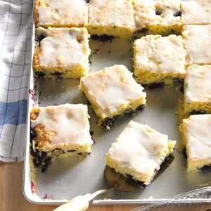 Blueberry Zucchini Squares