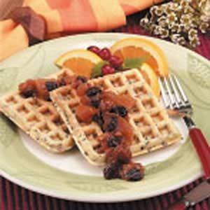 Wild Rice Pecan Waffles