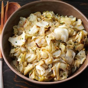 Roasted Cabbage & Onions